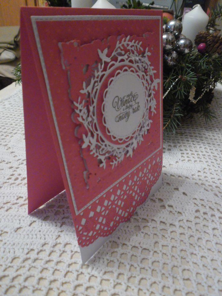 Červené vánoční přání (materiál PP)