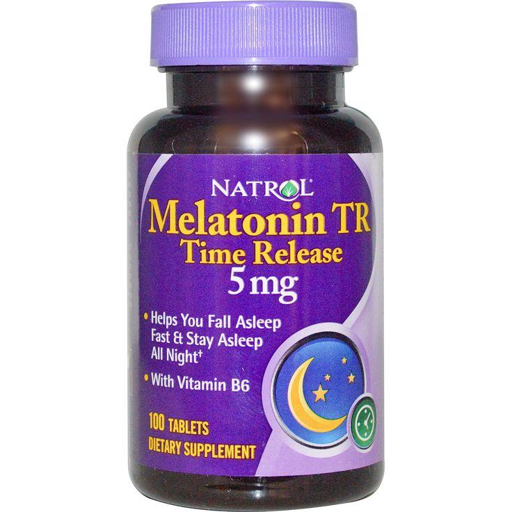 Natrol, Мелатонин TR, быстрое высвобождение, 5 мг, 100 таблеток