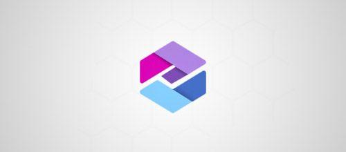 letter hexagon logo