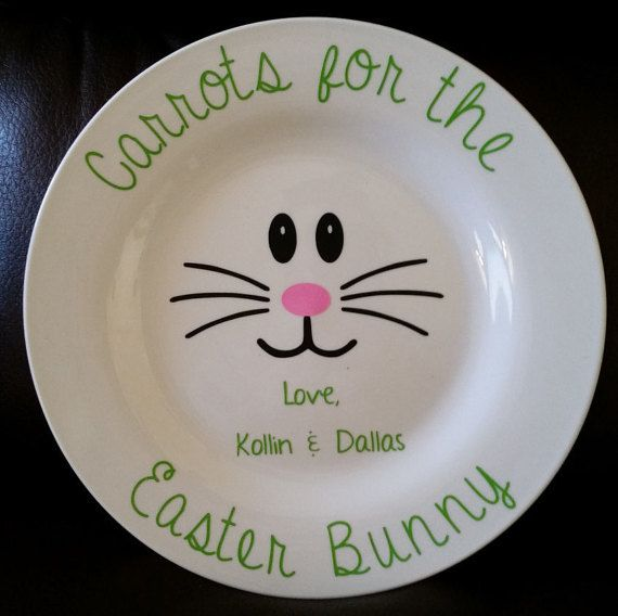 Carrots for the Easter Bunny Plates!Personalization Optional!
