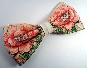 Ružičkový motýlik / Handmade bowtie
