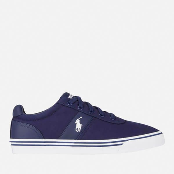 Polo Ralph Lauren Men's Hanford Trainers ($97) ❤ liked on Polyvore featuring men's fashion, men's shoes, men's sneakers, navy, men's low top sneakers, mens navy blue sneakers, mens shoes, mens sneakers and men's low top shoes