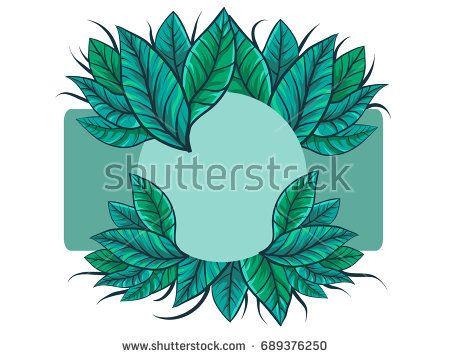 summer vector background leaf