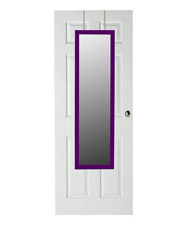 Look what I found on #zulily! Purple Over-Door Full-Length Mirror #zulilyfinds