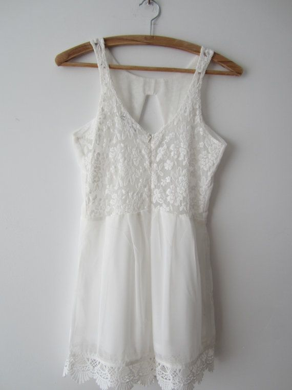 82666dcbfcf7 White One Piece Shorts Jumpsuit Sheer White Overalls White Lace Rompers  Extra Small Summer Overalls Sexy Romper Festival Clothing