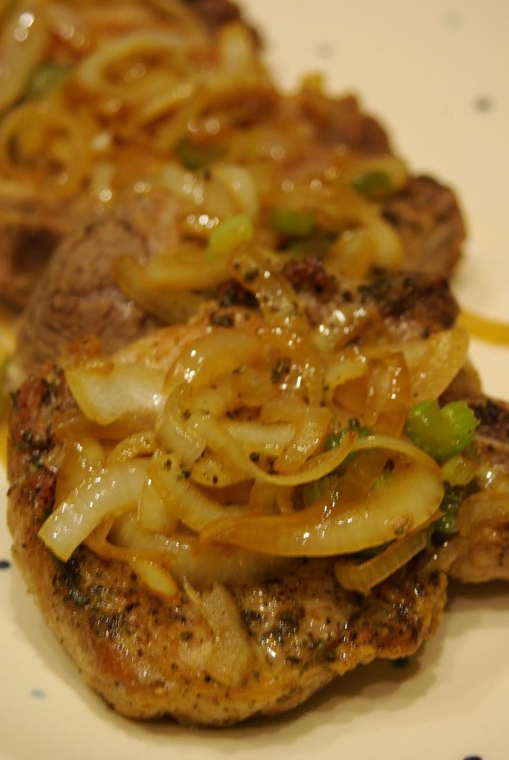 Pork Chops Southern Vidalia Onions Braised in Rum