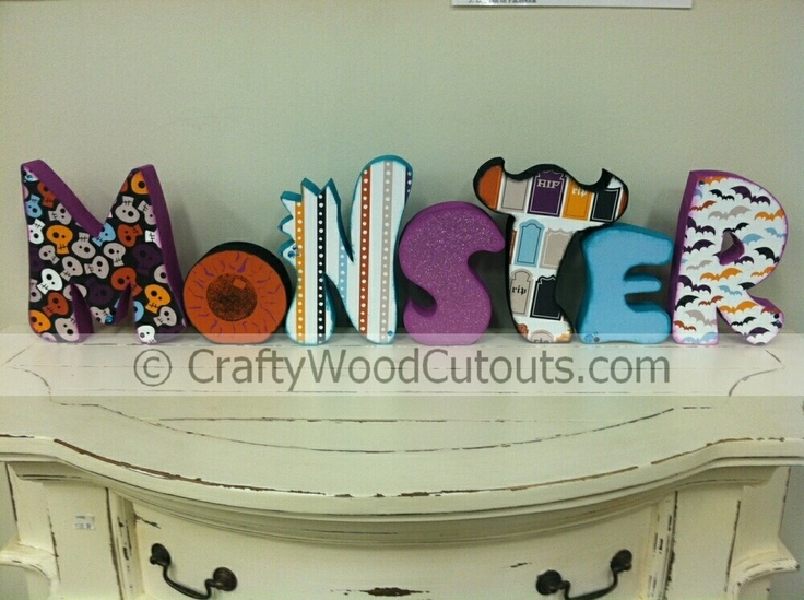 More halloween wood craft cutouts for home decor wood cutouts more halloween wood craft cutouts for home decor wood cutouts crafty and monsters sciox Images