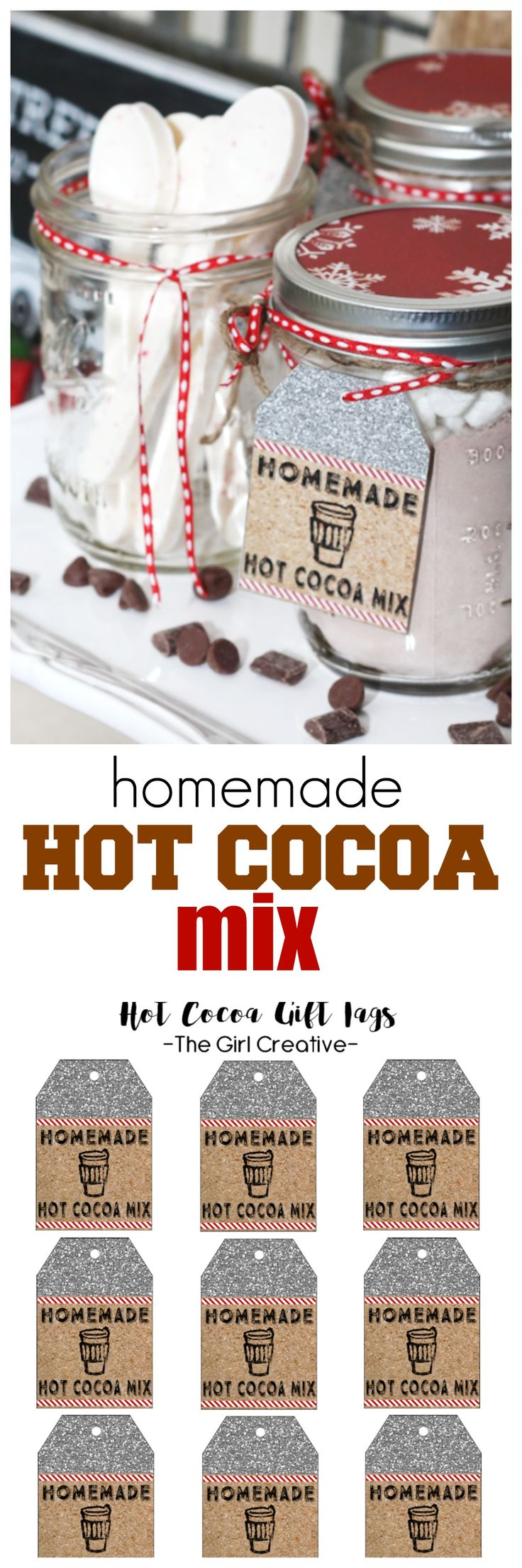 Homemade Hot Cocoa mix with candy cane spoons!