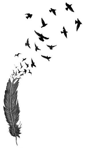 Birds of a Feather Tattoo | Feather temporary tattoo