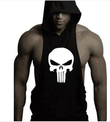 Sweatshirts Sleeveless Hoodie Men's Fitness Tank Tops