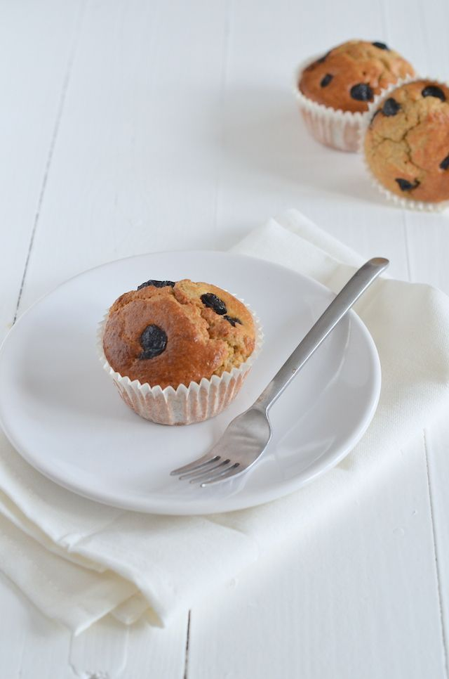 gezonde havermoutmuffins #healthy #blueberrymuffin #nosugar