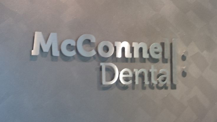 McDonnell Dental #CSI #3D #lettering #custom #sign #CAD #extrusion #signage #name #letter #word #corporate #school #recognition #identity #design