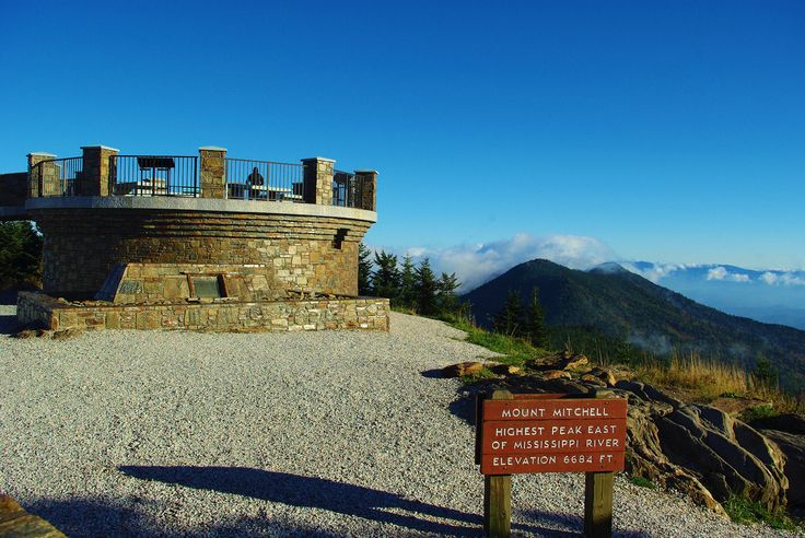 /\ The Ten Highest Mountains in the Eastern US are all in NC or TN ~ #1-Mt. Mitchell (NC) #2-Mt. Craig (NC) #3-Clingman's Dome (TN) #4-Mount Guyot (NC) #5-Balsam Cone (NC) #6-Mount LeConte (TN) #7-Mount Gibbes (NC) #8-Potato Hill (NC) #9-Mount Chapman (TN) #10-Richland Balsam (NC). Overall, in this southeastern high country, there are 40 Peaks above 6,000 feet in the mountain regions of Western NC and Eastern TN.