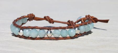 Da Costa Amazonite Single Wrap Bracelet