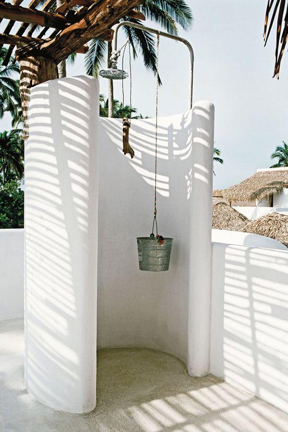 Outdoor shower   Image of Hotel Azúcar in Mexico via Condé Nast Traveller