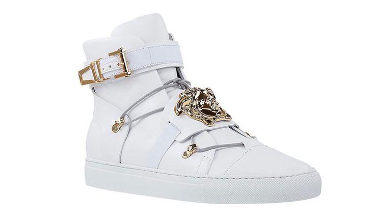 New Versace Gold Medusa Hi-Top Sneakers Spring 2014 $1295