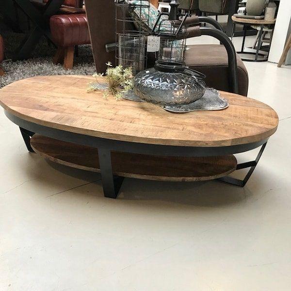Ovalen Salon Tafel.Ovaal Salontafel Industrieel In 2019 Ovale Salontafels