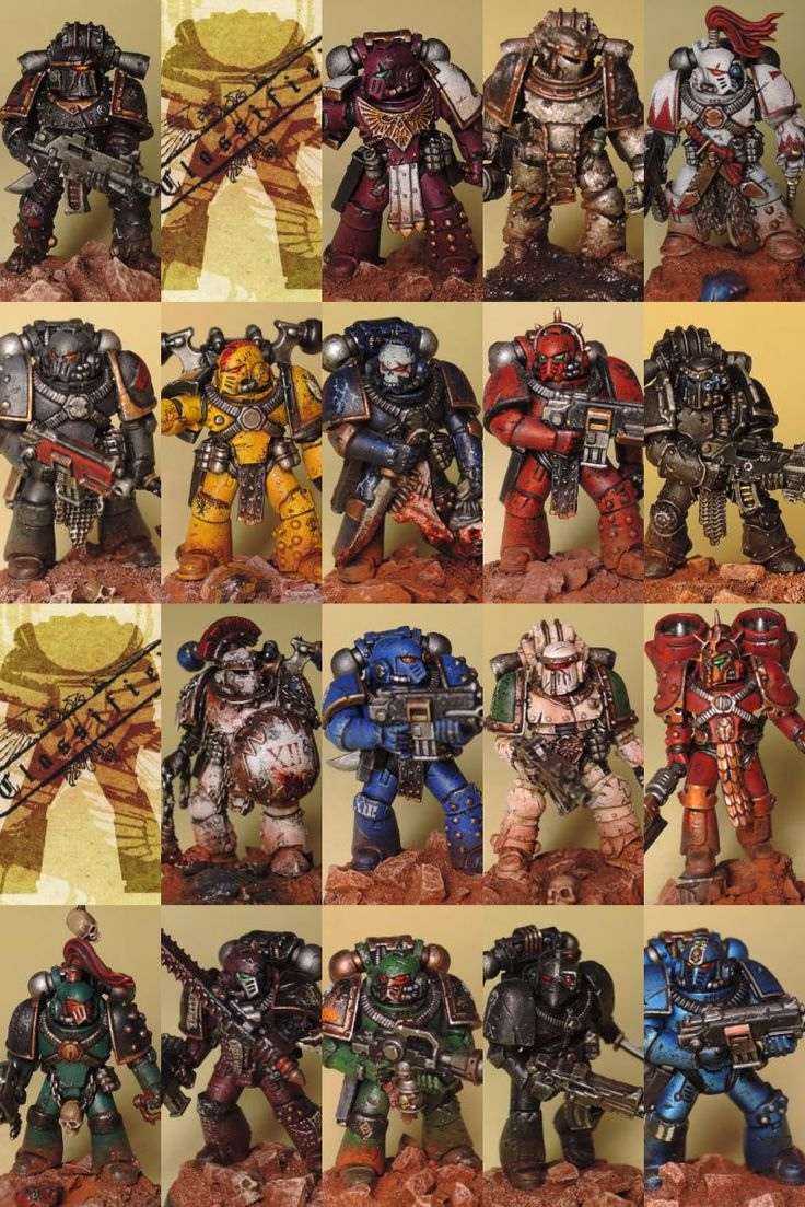 30k, Alpha Legion, Blood Angels, Dark Angels, Death Guard, Emperor's Children…