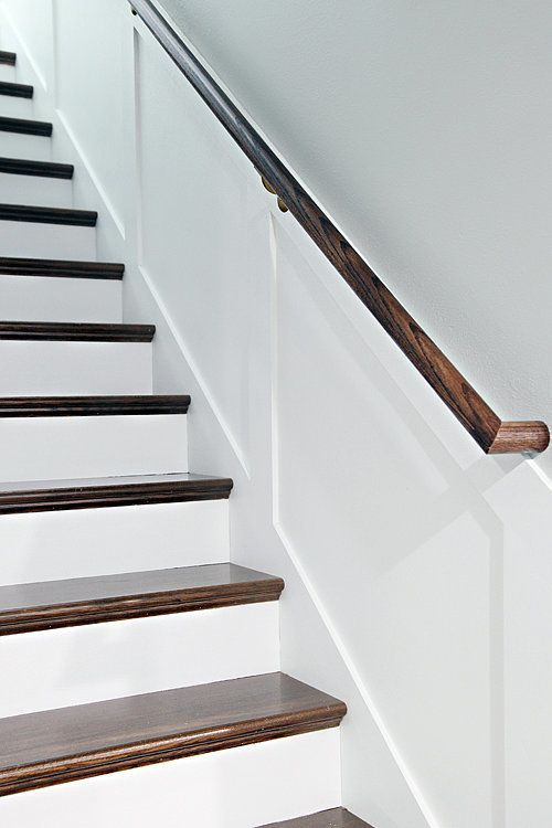 This dramatic staircase makeover will cause you to do a for Diy staircase makeover