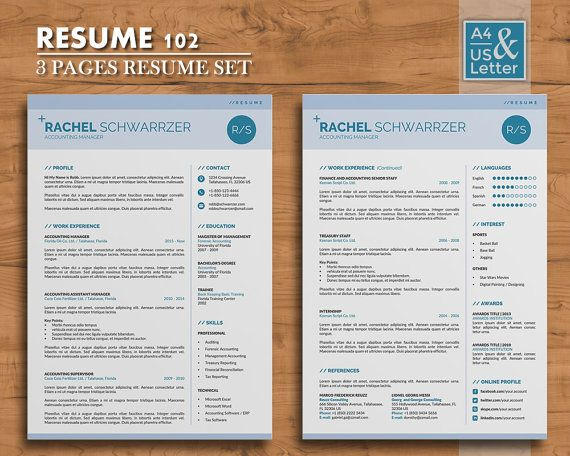 Best Unique And Clean Resume Template Images On