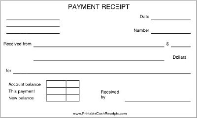 Doc12851660 Receipt for Payment Receipt For Payment – Sample Payment Receipts