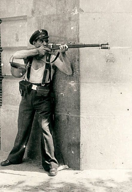 Spanish Civil War Republican fighter. Barcelona, uncredited