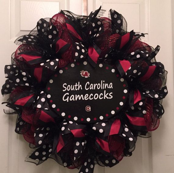 University of South Carolina Deco Mesh Wreath-USC by AllstonAttic