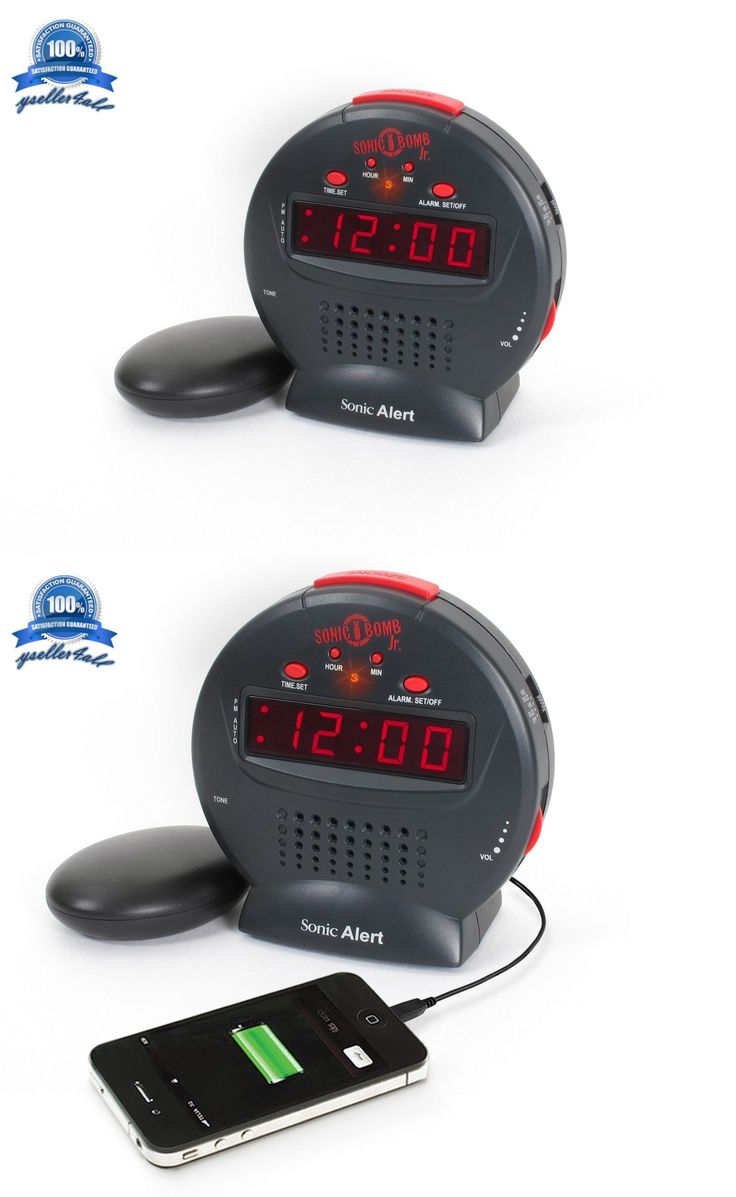 Digital Clocks and Clock Radios: Alarms Clock Vibrating Loud Sonic Boom Bed Shaker Deaf Hearing Impaired Alarm -> BUY IT NOW ONLY: $37.99 on eBay!