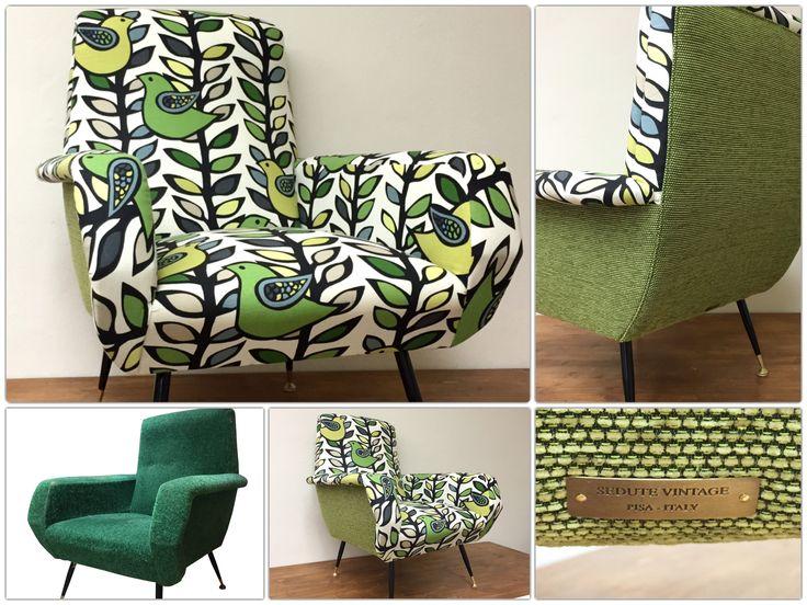 poltrona anni 50 - 1950s armchair - by SEDUTE VINTAGE