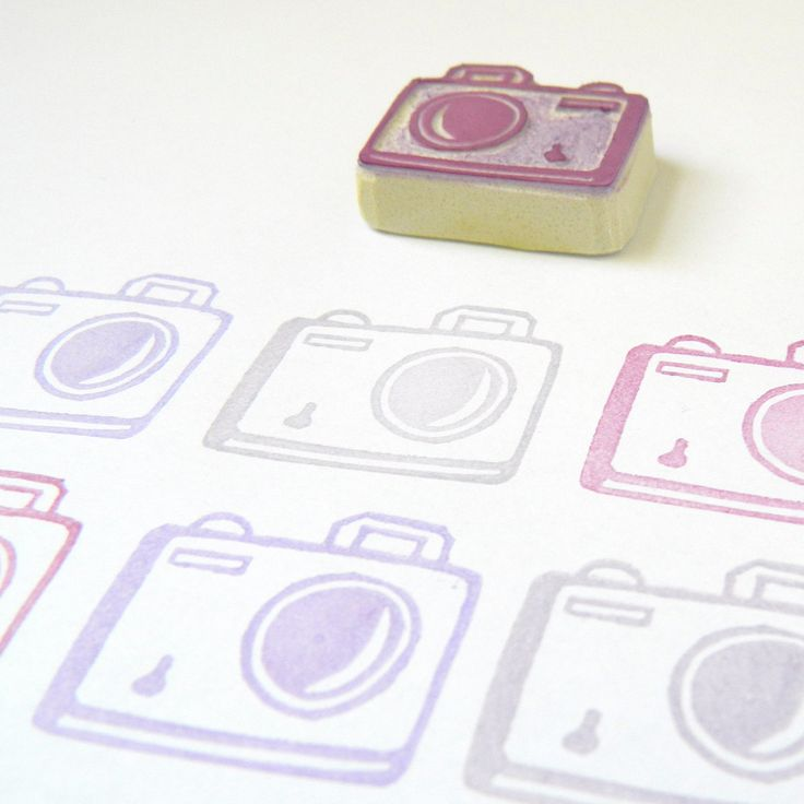Say Cheese!  My Little Camera Stamp - Rubber Stamp by Creatiate