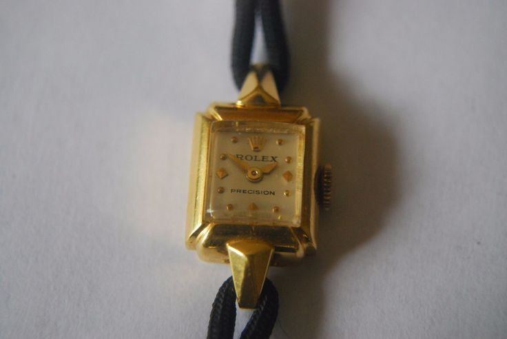 #Forsale #Rolex Lady Precision 18 Karat Gold Cord Band #Rolex Buckle Good Running Conditio #Auction @$102.50