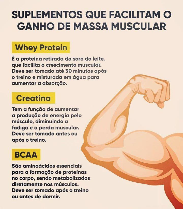 Melhores suplementos para ganhar massa muscular e como toma-los