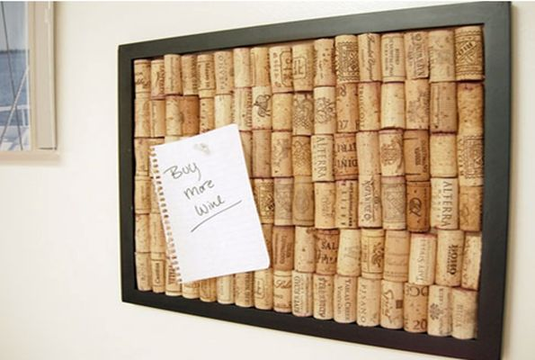 Save your wine corks and make a cork board out of them! Perfect for leaving notes for your family members or yourself!