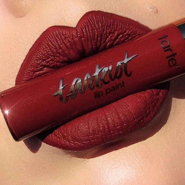 "Happpy 23 birthday! #tarteist quick dry matte lip paint in ""Vibin""!"