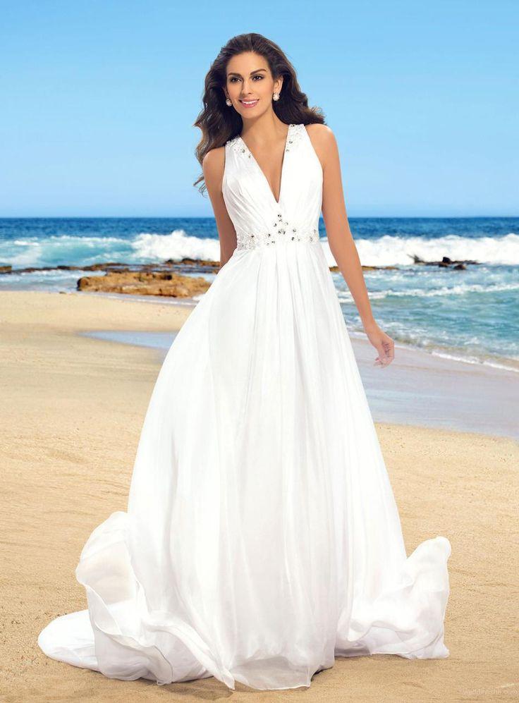 76 besten Beach Wedding Dresses Bilder auf Pinterest ...