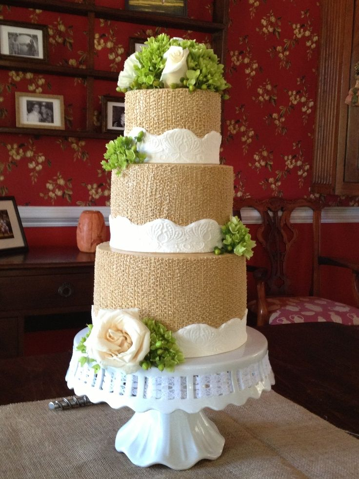 burlap wedding cake 18 best images about burlap on cakes on 2143