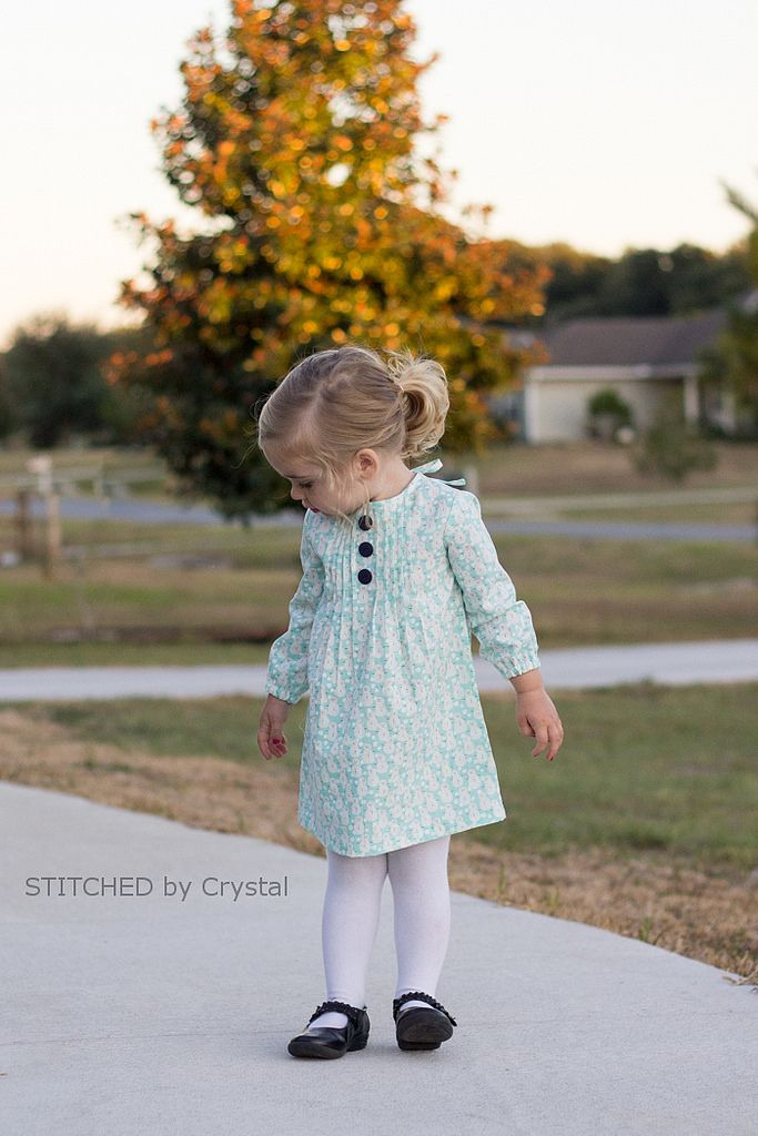 STITCHED by Crystal: Lillian Pintuck Dress
