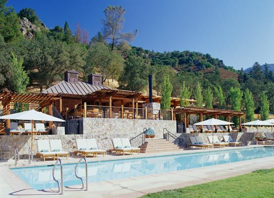 The pool and indoor/outdoor fitness lodge.   Calistoga ...