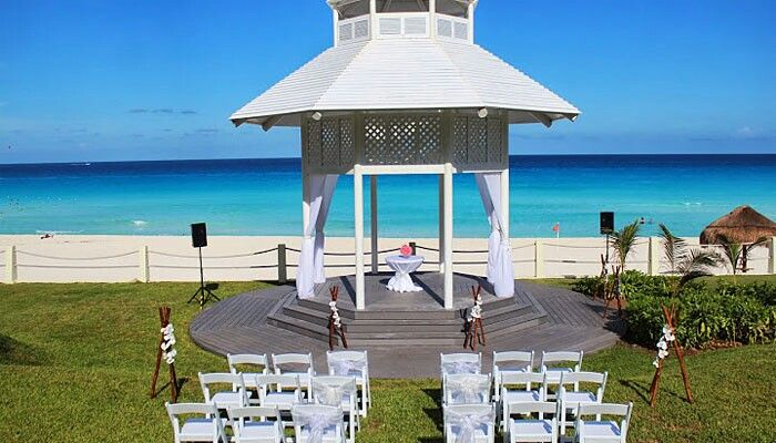 Gorgeous Ocean Front Wedding Gazebo Paradisus Cancun Follow Us On Instagram Romancetravel Pinterest And