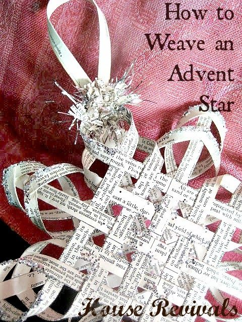 House Revivals: Make a Woven Star from Vintage Book Pages, Part Tw...