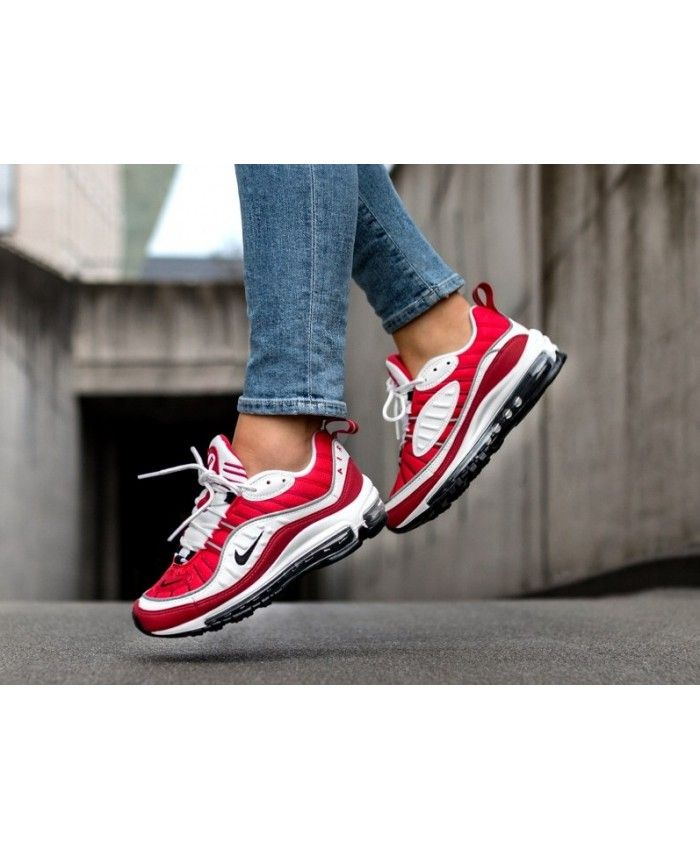 best sneakers 35c75 7fc59 Nike Air Max 98 Trainers In Red and White