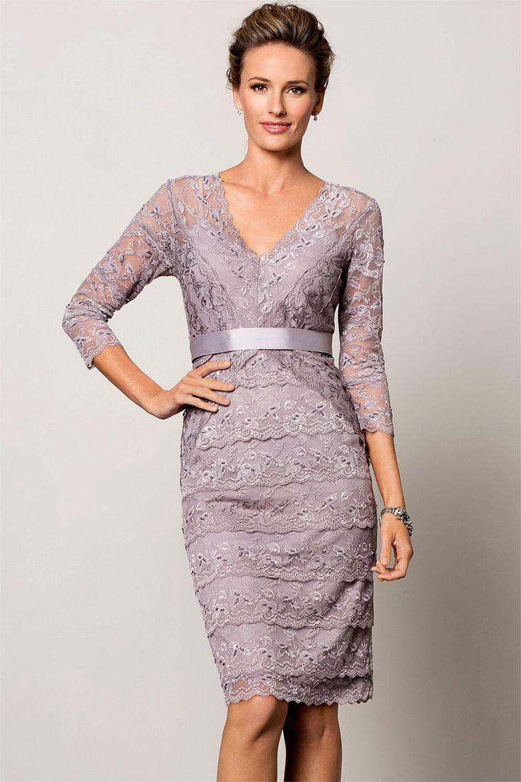Women's Clothing - Grace Hill V Neck Lace Dress - EziBuy New Zealand