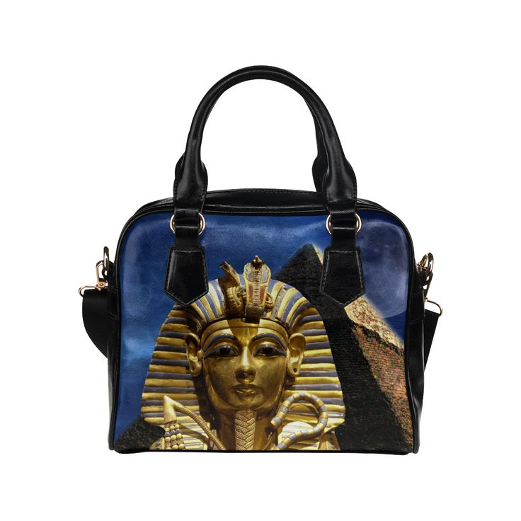 King Tut and Pyramid Shoulder Handbag. FREE Shipping. #artsadd #bags #kingtut