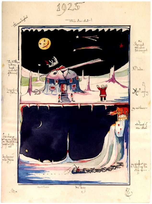 Tolkien's Illustration accompanying his Father Christmas Letter to his sons.