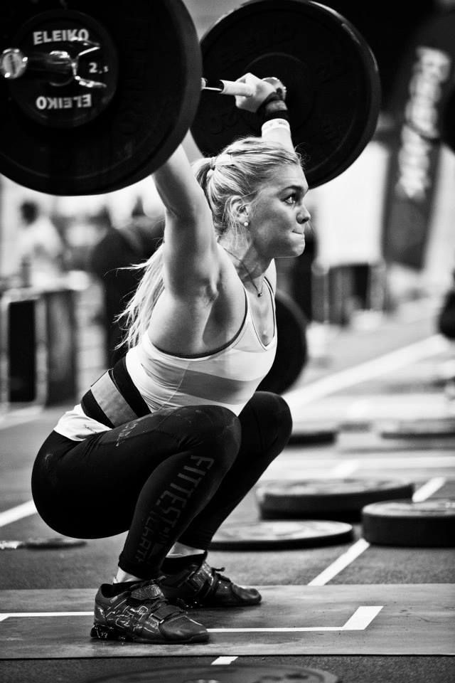 Katrin Davidsdottir/ my all time favorite female Crossfitter <3 One of my biggest inspirations as well.