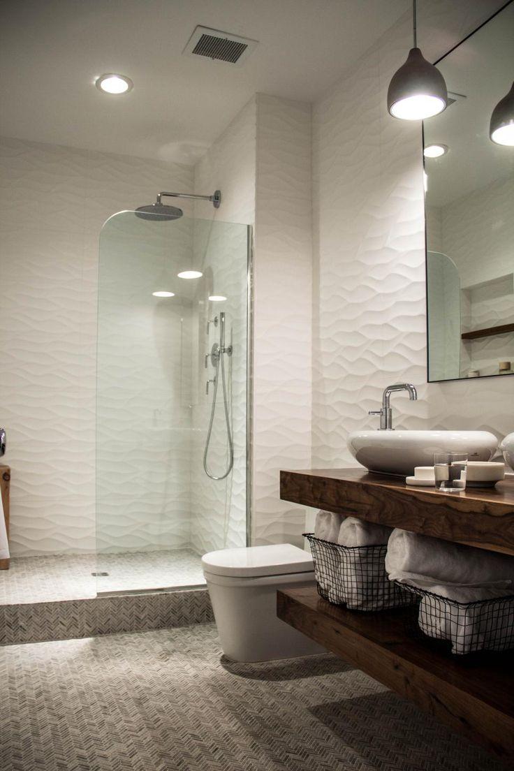 Sleek + Sculptural Master Bathroom | 2014 | HGTV