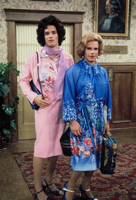 Kip/Buffy (Tom Hanks) and Henry/Hildegard (Peter Scolari) ~ Bosom Buddies