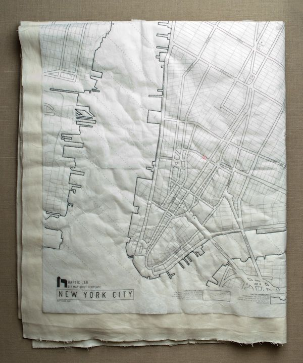 New! DIY Map Quilt Patterns from Haptic Lab - The Purl Bee - Knitting Crochet Sewing Embroidery Crafts Patterns and Ideas!