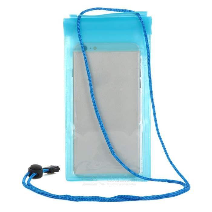 "Universal PVC Drifting Waterproof Bag for 5.5"" Cellphone - Blue"