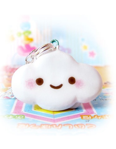 Baby cloud necklace! Handpainted polymer clay. $8.50   Again, can do yourself